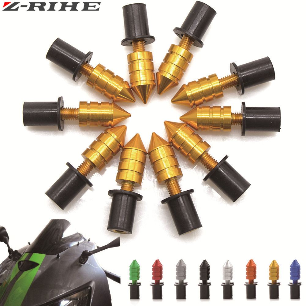 Universal 10pcs M5 Motorcycle Swingarm Spools Slider Windshield Spike Nuts Bolts Screws For Yamaha X-MAX 250 XMAX 250 XMAX250 universal 10pcs m5 motorcycle swingarm spools slider windshield spike nuts bolts screws for ktm rc390 rc 390 rc125 rc 125 65 sx