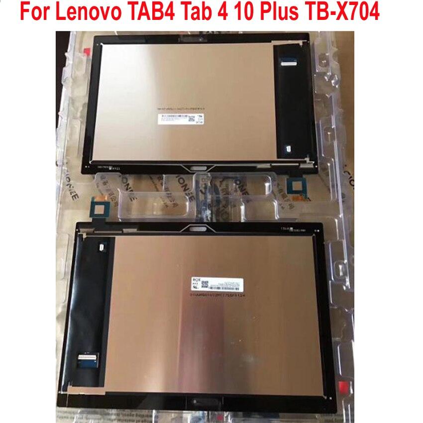 """Best di Lavoro 10.1 """"LCD Display Touch Screen del Pannello Digitizer Assemblea Sensore Per Lenovo Tab 4 10 Più TB X704 TB X704L TB X704-in Schermi LCD e pannelli per tablet da Computer e ufficio su  Gruppo 1"""