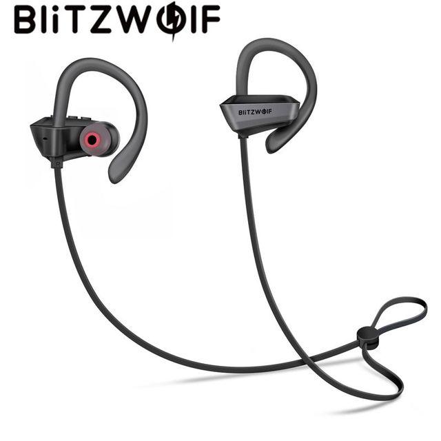 BlitzWolf Sport na uszy, słuchawki bezprzewodowe bluetooth V4.1 zestaw słuchawkowy IPX5 wodoodporny Heavy słuchawki basowe z mikrofon do telefonu