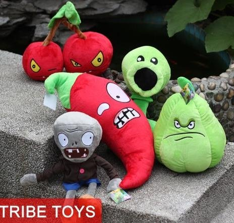 Plants Vs Zombies Plush Toys Sets PVZ Memorial Collection