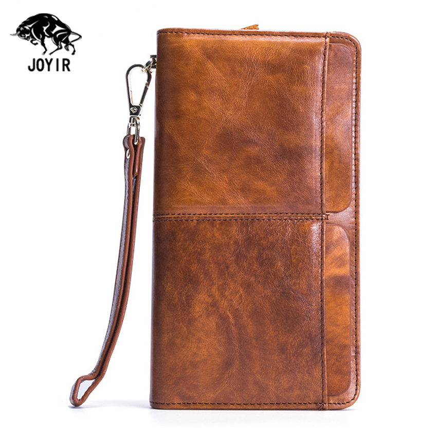 Genuine Cowhide Leather Wallet Men Luxury Long Large Capacity Business Clutch Bags 2017 Famous Designer Handy Zipper Purses Male