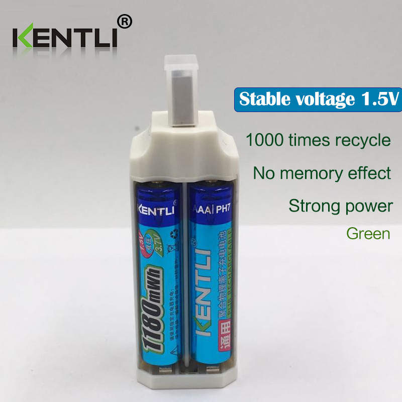 KENTLI 12 шт. 1,5 в 1180mWh AAA полимерные литиевые заряжаемые аккумуляторы + 4 слота литий ионного зарядного устройства - 4