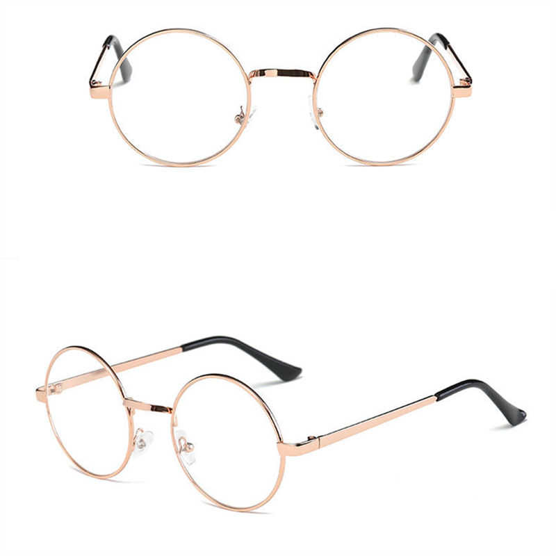 284867ccaed6 ... Hot Women Men Big Round Glasses Frames Newest Purely Handmade Vintage  Optical Eye Frame Plain Glass ...