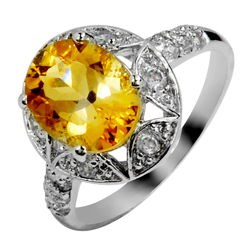 Natural Citrine Ring 925 Sterling Silver Yellow Crystal Woman Fashion Fine Elegant Jewelry Queen Retro Birthstone Gift SR0199C все цены