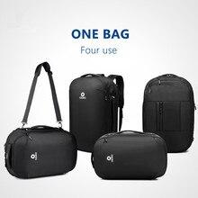 Купить с кэшбэком 2019 New OZUKO Men's Multifunction 15.6 inch Laptop Backpacks Fashion Schoolbag for Teenager Waterproof Male Mochila Travel Bags
