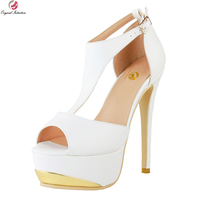 Original Intention New Elegant Women Sandals Fashion Open Toe Thin High Heels Sandals Nice White Shoes