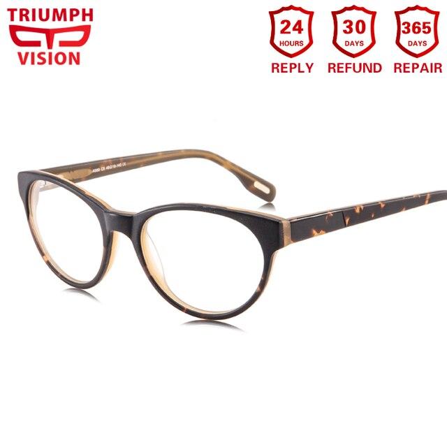 568b129e83aeb TRIUNFAR Mulheres Prescrição Óculos de VISÃO Olho de Gato Tortoise Óculos  Limpar Vidros do Olho Óptico