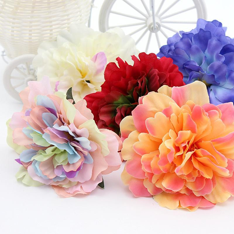 10PCSLot Artificial Silk Flower Rose Lily Tulip wreath pectoral flower clothing hat shoes Christmas Decorative materials