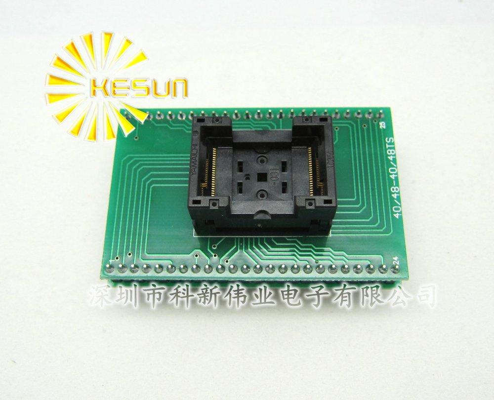 100% NEW TSOP48 SOP48 DIP48 IC Test Socket / Programmer Adapter / Burn-in Socket(TSOP48-DIP48) tsop48 to dip48 pitch 0 5mm chip programmer adapter sa247 ic test socket