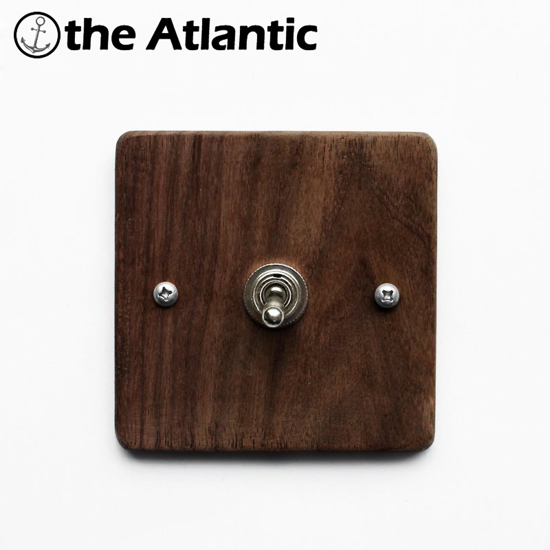 Maple/Walnut Luxury Wall Light Switch Panel Hand Made Switch 10A 110V-250V Wood Panel Brass Lever 1 GANG Retro Collection