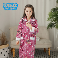 Robe For children Flannel Cardigan Nightgown Boy And Girl winter lounge gown