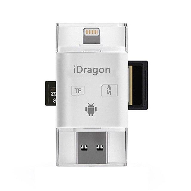 3 в 1 iFlash Drive USB Micro SD SDHC TF Card Reader Writer для iphone 5/5s/6/6 плюс/ipad/itouch