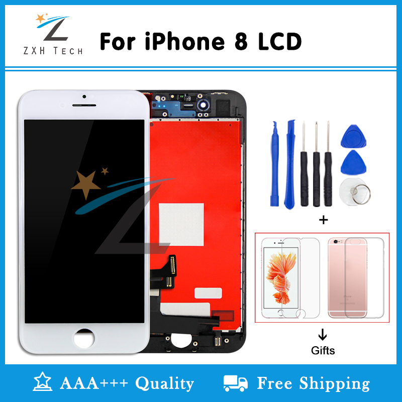 Alibaba China Grade AAA For IPhone 8 LCD Display 8P Screen Replacement Lens Pantalla With 3D Touch Digitizer Free Ship And Gifts