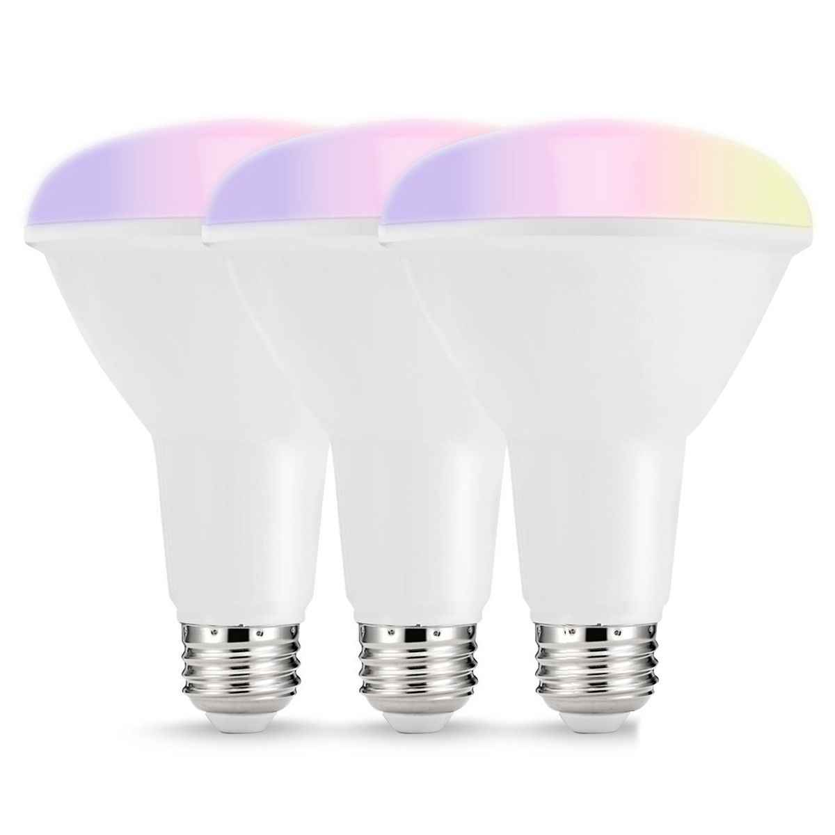 Smart Led Bulbs Multicolored Wifi Led Lights Br30 Dimmable Recessed Light Bulbs 75w80w Equivalent Flood Light Compat Led Bulbs Tubes Aliexpress