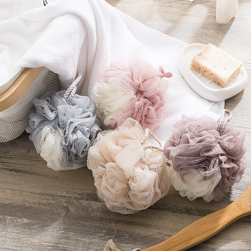 Bath towel bath flower adult rub back bath ball bath ball foam bath towel cute and soft