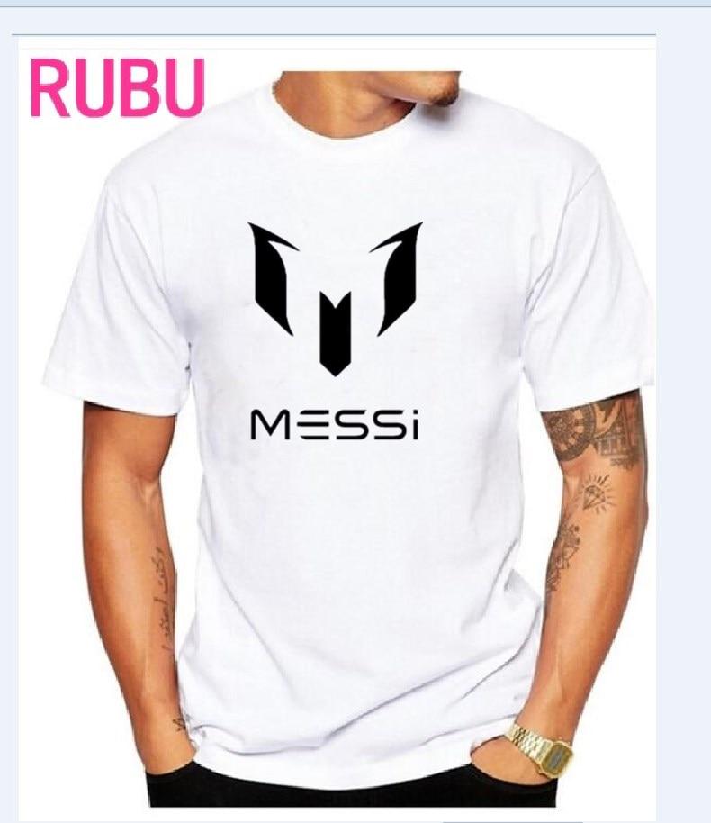2017 uyum Barcelona MESSI / Foto Wit Custom mannen en vrouwen t-shirt - Herenkleding