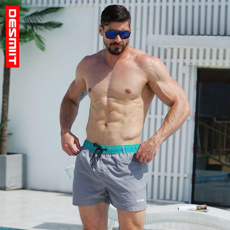 Desmiit Swimwear Mens Quick Dry Swim   Shorts   Summer Bermuda Surf Mens   Board     Shorts   Male Athletic Running Gym   Short