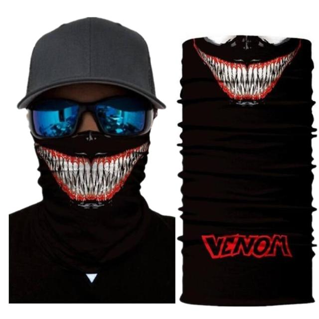 Superheros Hulk Black Panther Deadpool Motorcycle Cycling Neck Scarf Half Face Mask Bandana Headband Cosplay Masks 1