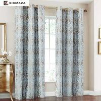 Firefly Jacquard Window Curtains Heavy Fabric High Quality With Silver Wire Embed 65 Shading For Livingroom
