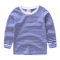 LittleSpring 2017 new spring autumn underwear children t shirt casual kids clothes boys blue stripped long sleeve tees boys top