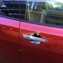 4 PCS ABS Plastic Chromed Outer Door Cup Bowl Frame Cover Car Sticker Trim Rear Fog