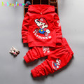 2Piece/0-3Years/Spring Autumn Toddler Boys Clothes Cartoon Hooded T-shirt+Pants Children's Sports Suits Baby Clothing Set BC1259