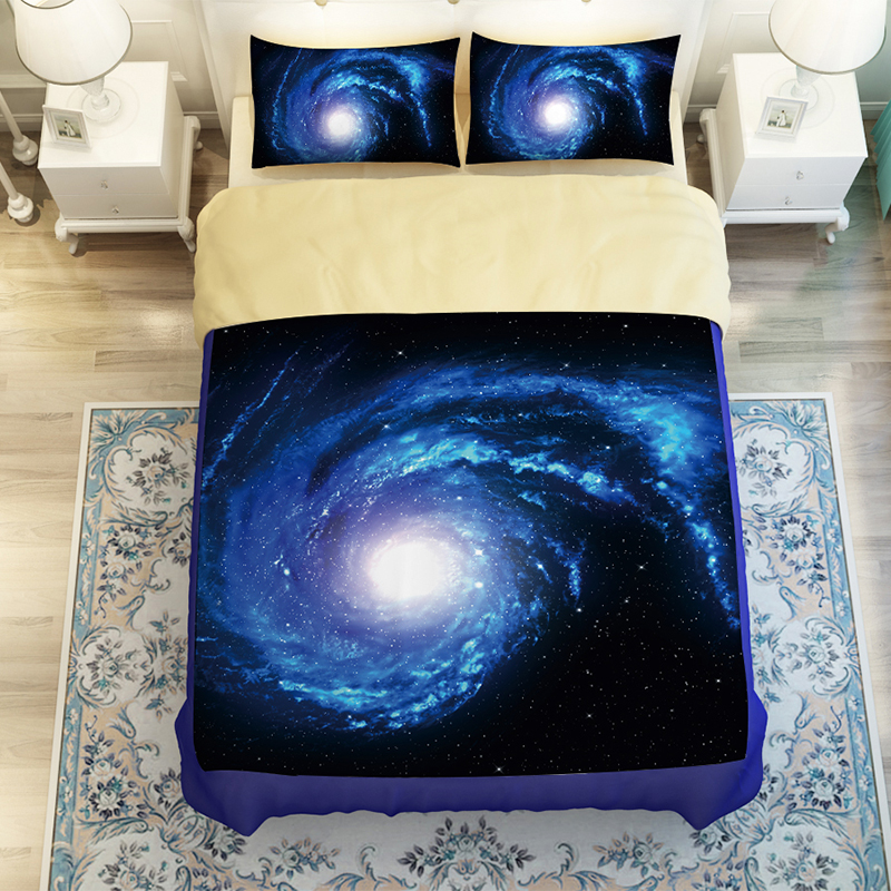 Beautiful Starry Sky Galaxy Outer Space Bedding Set Twin