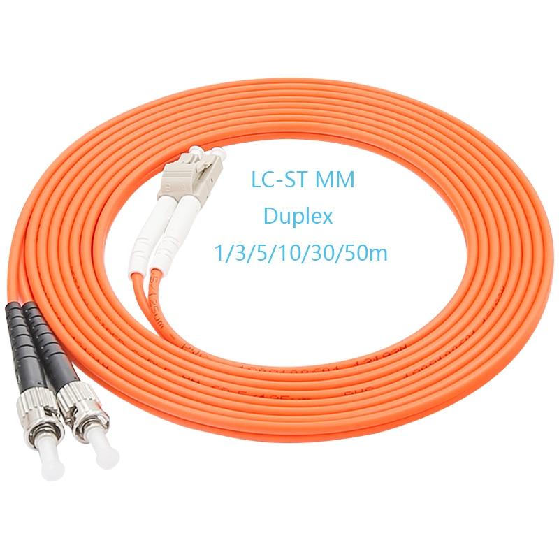Computer Cables 3M ST-LC Duplex 62.5//125 MULTIMODE Fiber Optic Optical Jumper Cable Orange Cable Length: 3m, Color: Orange
