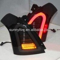 For SUZUKI Swift LED Tail Lamp smoke 2006 2010