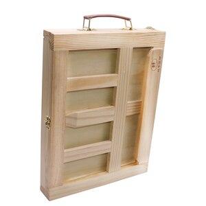 Image 5 - Moldura de madeira para pintura de gavetas, moldura dobrável para pintura a óleo, aquarela, caixa de madeira, materiais de arte portátil, 1 peça