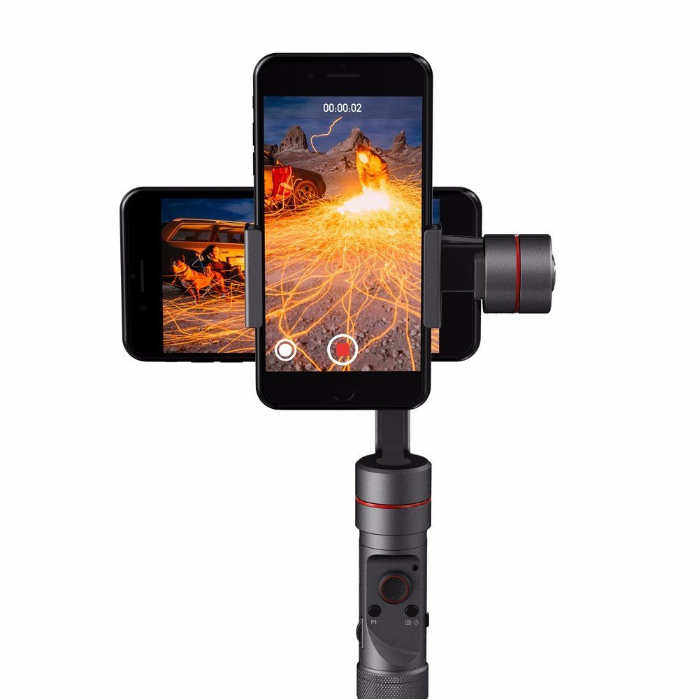 Zhiyun Smooth 3 Handheld 3 Axis Gimbal Stabilizer for Smart Phone under 6 inches and GoPro 3/4/5 Action Camera fpv 3 axis cnc metal brushless gimbal with controller for dji phantom camera drone for gopro 3 4 action sport camera only 180g
