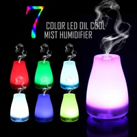 100ml Aroma Diffuser Essential Oil Cool Mist Humidifier Waterless Auto Shut Off 7 Color LED Lights