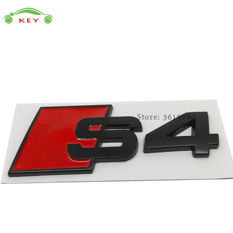 for Audi Accessories Car Styling Auto Decor Decal Emblem Badge for s3 s4 s5 s6 s8 Logo Sticker for Audi quattro s1 a3 a4 a6 b6