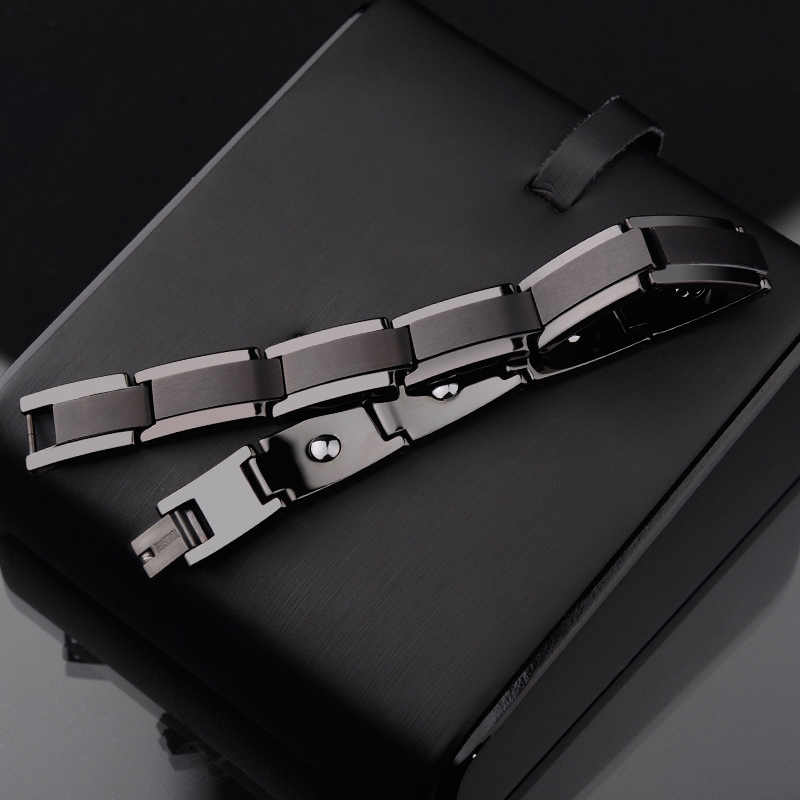 Hot Selling 10MM Width Black Color Men's Tungsten Bracelets Fashion Bangle Jewelry Length 20CM