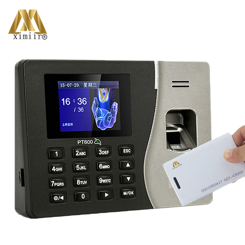 PT600 Fingerprint Recognition Time Attendance With ID Card Reader Time Recording TCP/IP Time Clock With Free Software