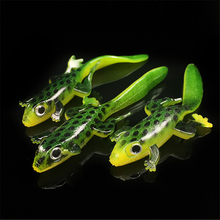 Soft Plastic Lures Larva 7.5cm 3g Floating Freshwater Swimbaits Silicone Bait Worm Fishing Lure Artificial Salamander