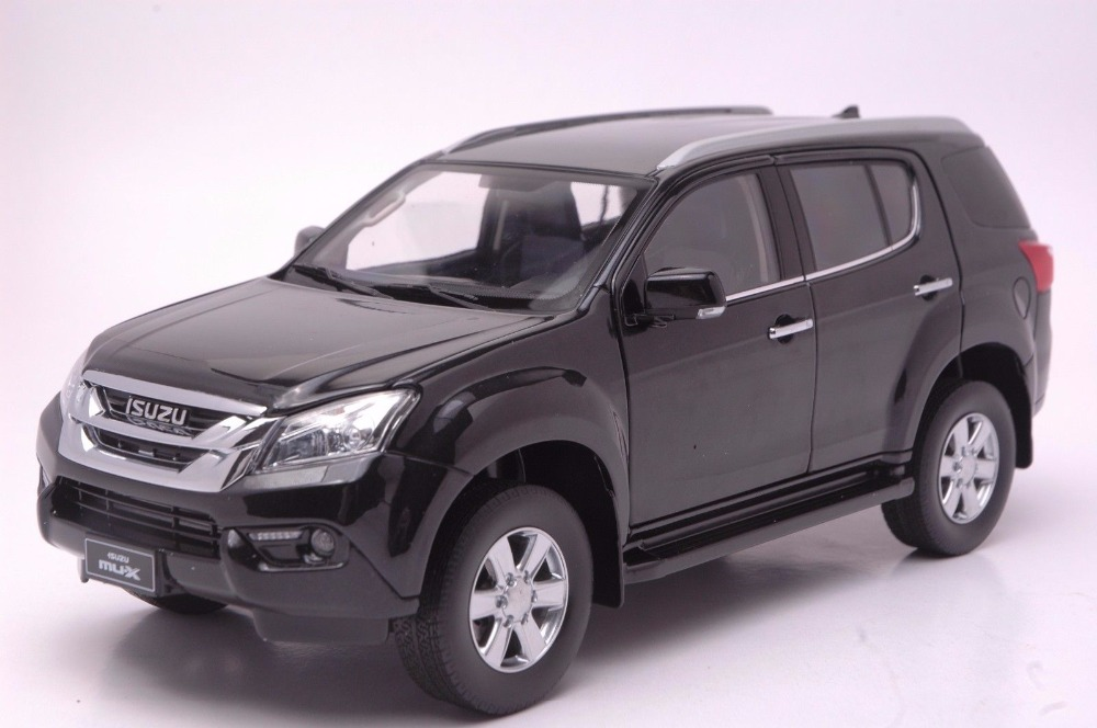 1:18 Diecast Model for ISUZU MU-X Black SUV Alloy Toy Car Miniature Collection Gifts MUX MU X 1 18 diecast model for isuzu mu x silver suv alloy toy car miniature collection gifts mux mu x