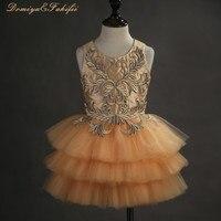 2018 Новое платье с цветами для девочки летние 2 14Years цветочные платья для маленьких девочек Vestidos Свадебная вечеринка детская одежда для дня р