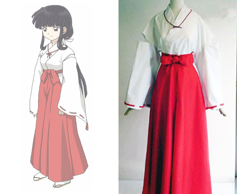 Anime Inuyasha Cosplay Costume Kikyou Cosplay Costume Full Set Outfit  Halloween Carnival Cosplay Costume