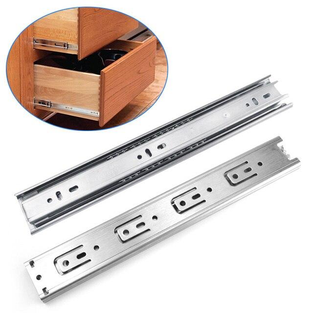 1 Pair 12 Inch Ball Bearing Drawer Orbit Slide Steel Keyboard Cabinet  Cupboard Runners Furniture Drawers