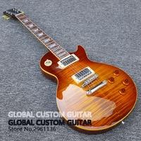 2017 New Wholesale Custom Shop 1959 R9 Tiger Flame Electric Guitar Standard LP 59 Electric Guitar