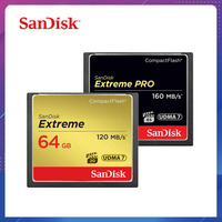 SanDisk Memory Card 32GB 64GB 128GB CF card extreme PRO High Speed compact flash card for DSLR and HD Camcorder discount