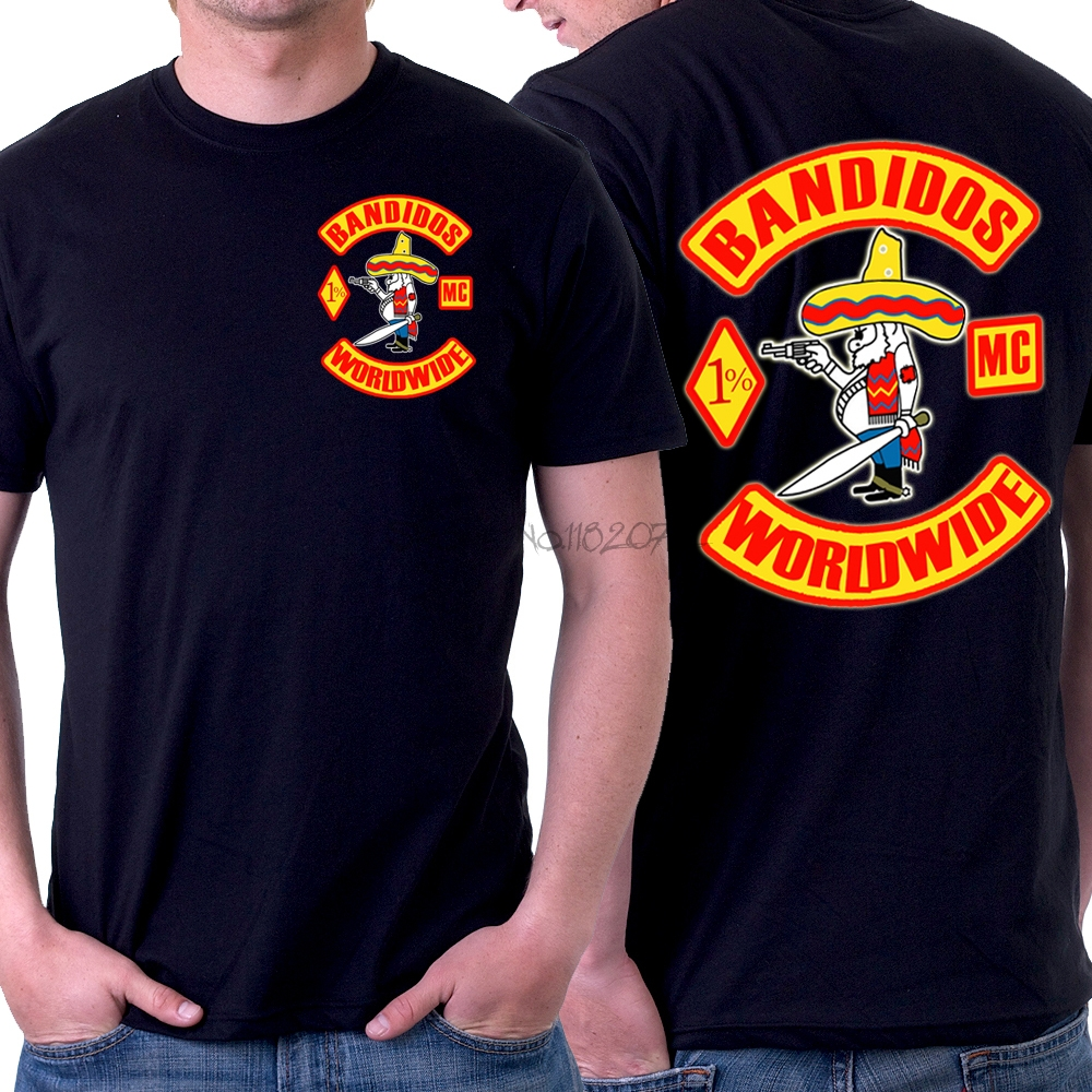 Bandidos motorcycle club men o neck t shirt 100 cotton t for T shirts for clubs