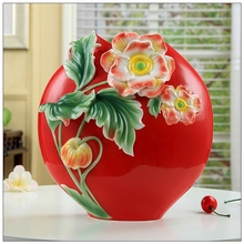 Art decoration gifts ceramic vase decoration crafts Home Furnishing Room Decor wedding gifts red