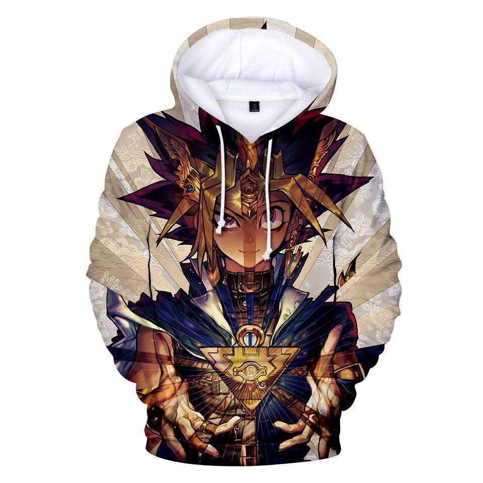 Rapture 3d Yu Gi Oh Yugi Muto Men Pullover Hoodies Couple Boys Girls Hot Game Kpop Hip Hop Autumn Sweatshirts Top Coats Maxi Size 4xl Beneficial To Essential Medulla Men's Clothing