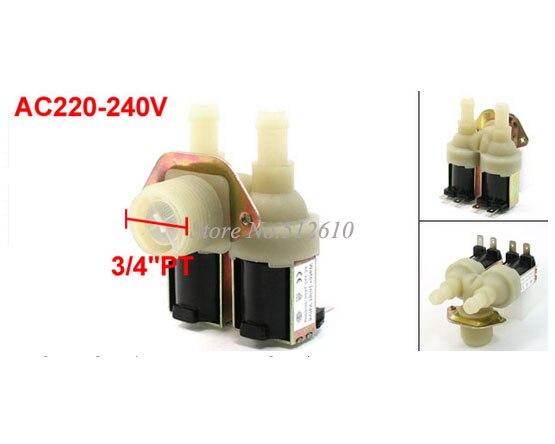 Используется для LG samsung Siemens Haier входной для стиральной машины клапан двуглавый барабан маленькое отверстие впускной клапан Соленоидный клапан-in Запчасти для стиральных машин from Бытовая техника