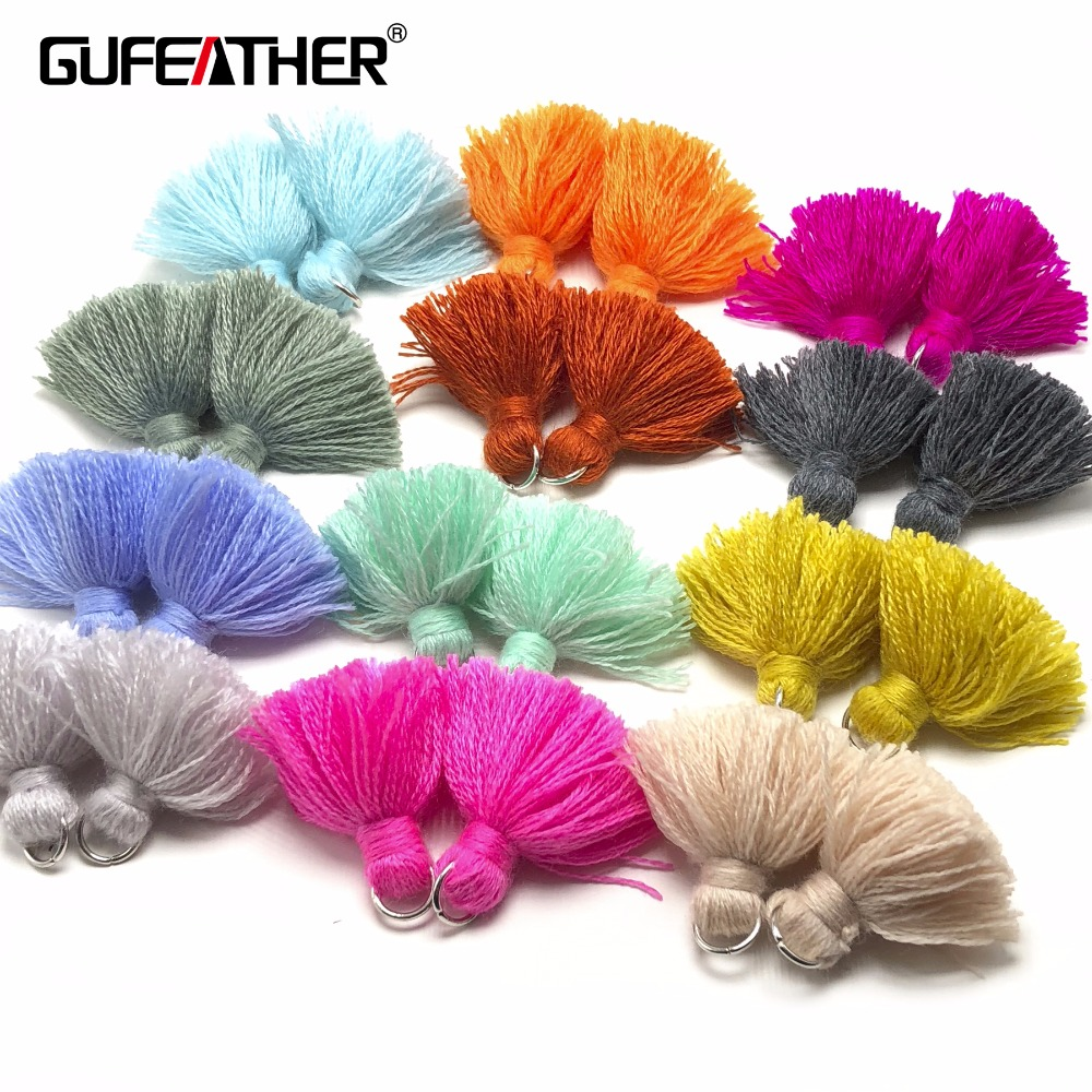GUFEATHER L91/3.5cm Wool tasselsl/jewelry accessories/jewelry findings/cotton tassels/diy/Earrings production/4pcs/bag