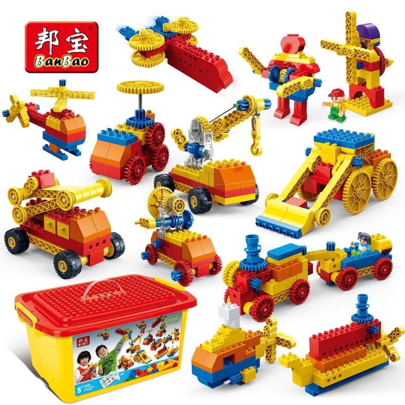 BanBao Mechanical Engineering Educational Compatible gear sets Building Blocks Bricks Kid Toy DIY Model technic Duploeds