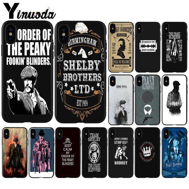 Yinuoda Peaky Blinders Light Weight Silicone Cell Phone Shell for Apple iPhone 5 5S SE 6 7