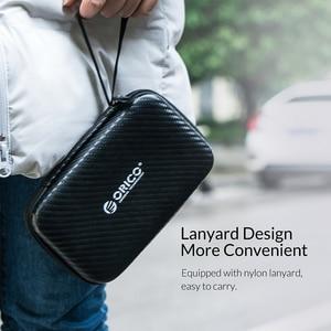 Image 4 - Чехол для хранения ORICO, портативная Защитная сумка для HDD, сумка для наушников, аксессуары, чехол на жесткий диск 2,5 дюйма, чехол с usb кабелем и внешним аккумулятором